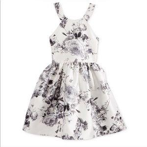 Grey flower Arcadia dress
